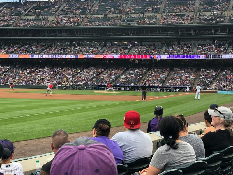 Seating view for Coors Field Section 145 Row 4 Seat 11