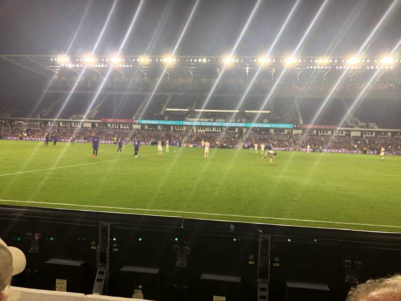 Seating view for Exploria Stadium Section 33 Row B Seat 22