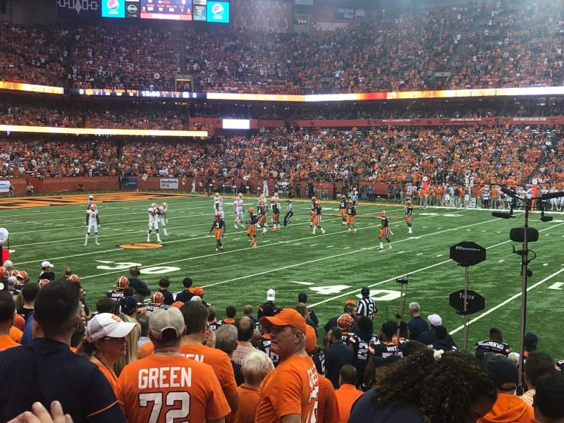Seating view for Carrier Dome Section 101 Row J Seat 101