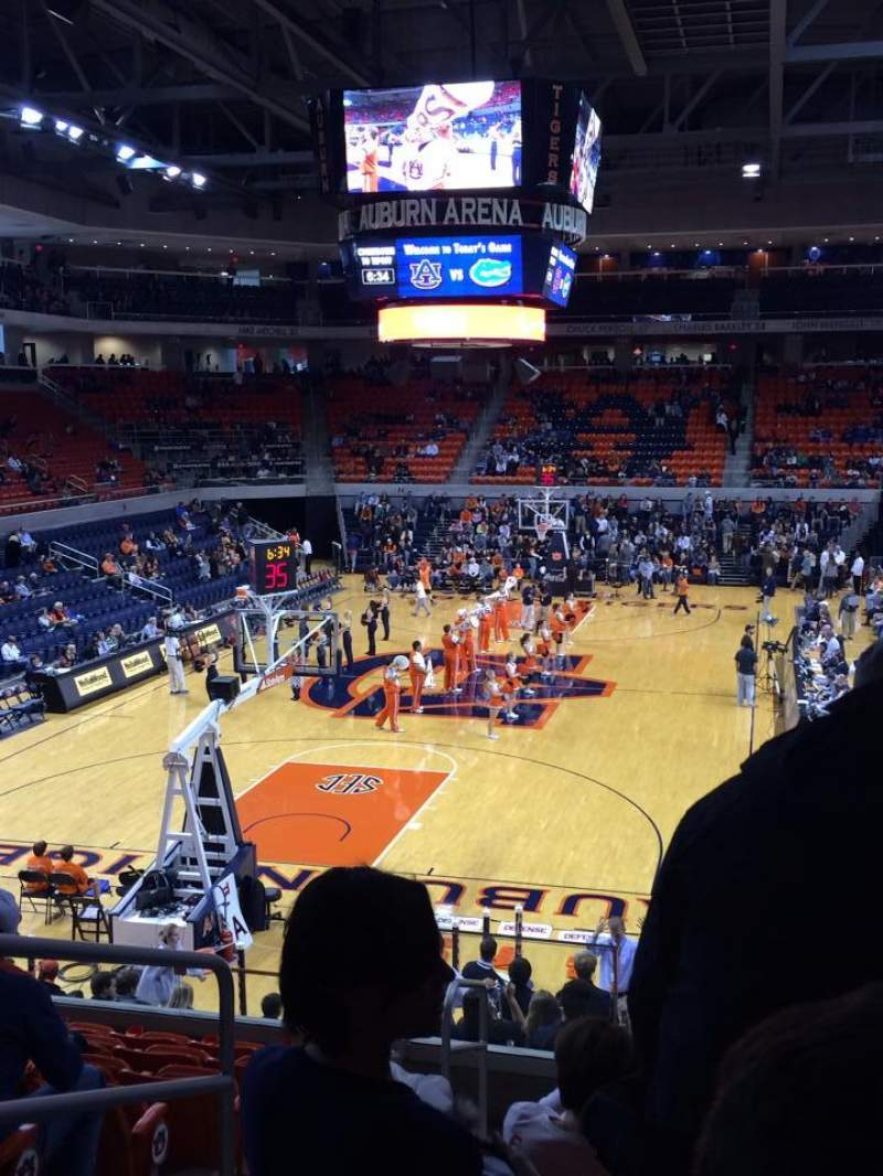Seating view for Auburn Arena Section 108 (Lower Baseline) Row 18 Seat 14