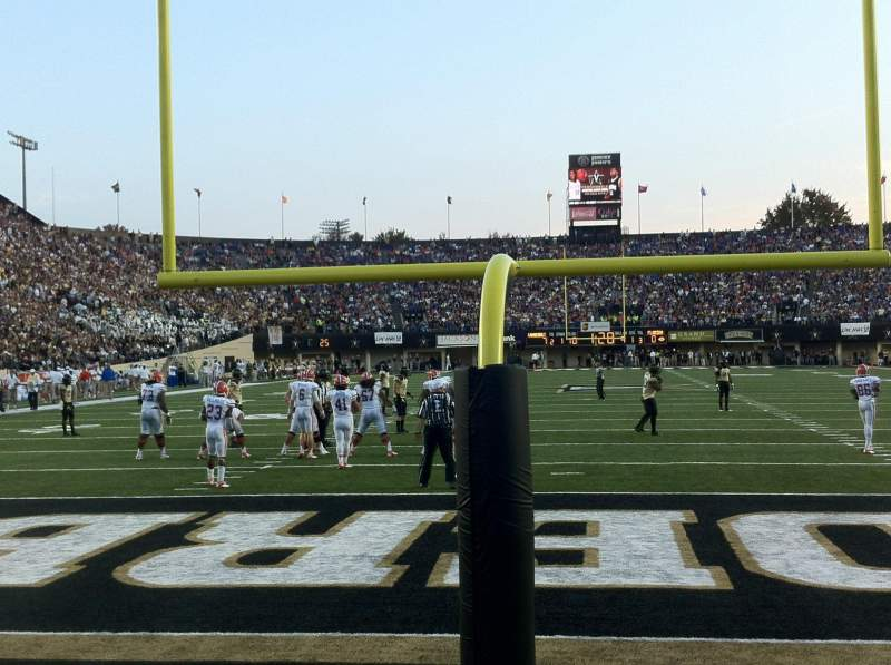 Seating view for Vanderbilt Stadium Section End Zone Y