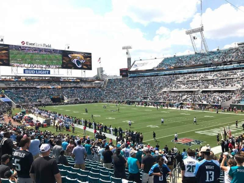 Seating view for TIAA Bank Field Section 128 Row AA Seat 10