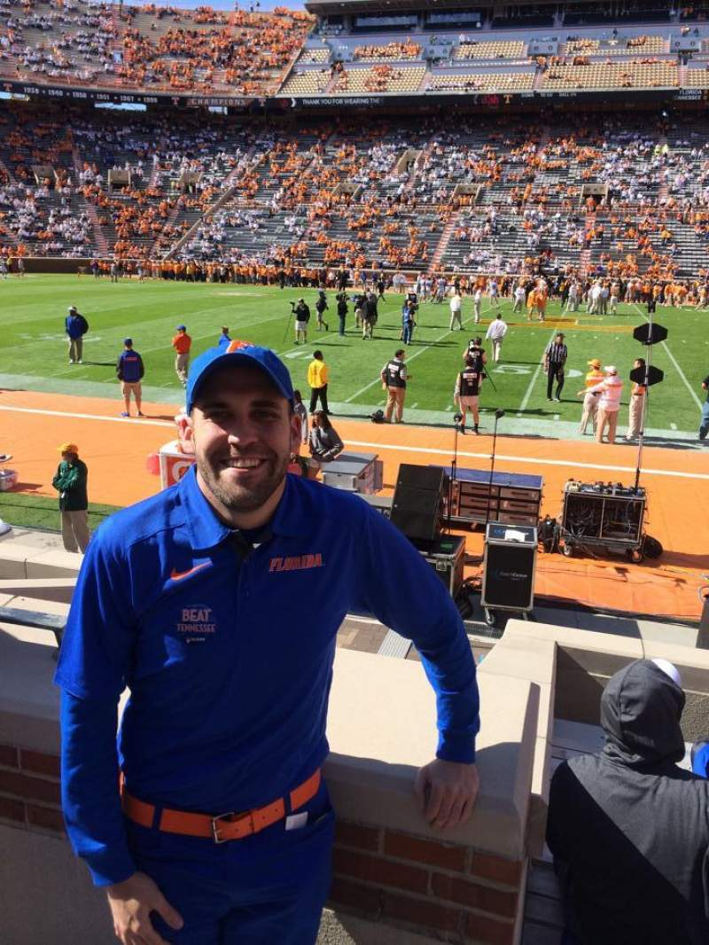 Seating view for Neyland Stadium Section D Row 3