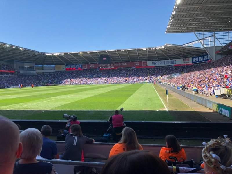 Cardiff City Stadium, Abschnitt 122, Reihe G, Platz 106
