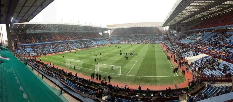 Seating view for Villa Park Section T1 Row C Seat 9