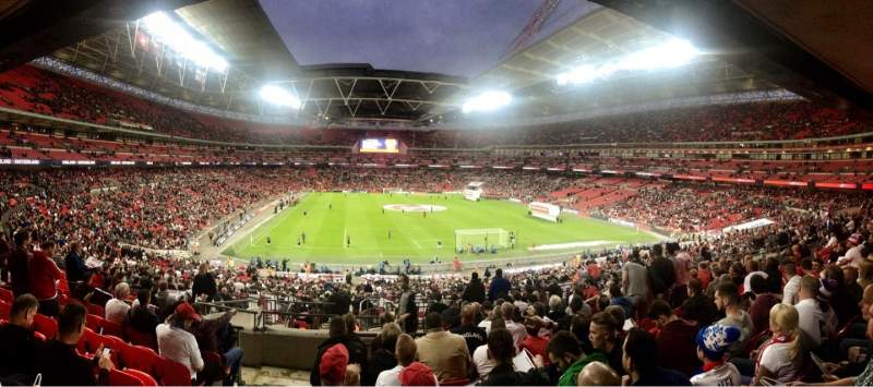 Seating view for Wembley Stadium Section 113 Row 44 Seat 41