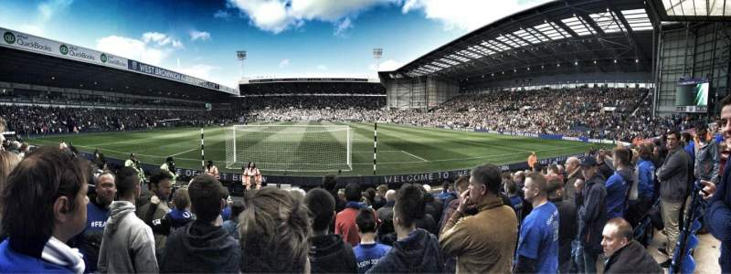 Seating view for The Hawthorns Section A6 Row N Seat 69