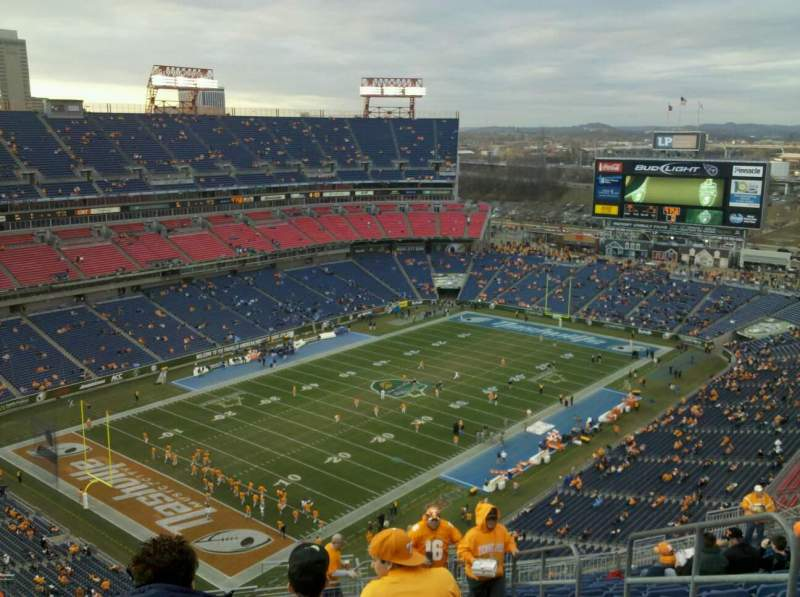 Seating view for Nissan Stadium Section 321 Row aa Seat 4