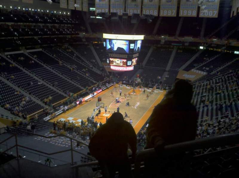 Seating view for Thompson-Boling Arena Section 327a Row 7 Seat 1