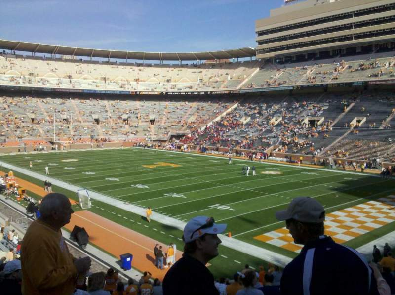 Seating view for Neyland Stadium Section p Row 36 Seat 4