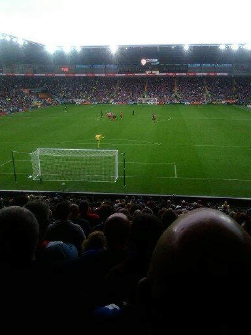 Seating view for Cardiff City Stadium Section Canton Stand Row AA Seat 583