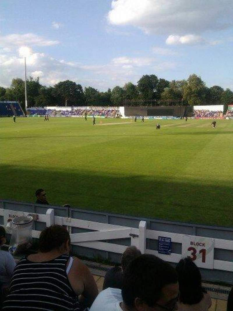 Seating view for SWALEC Stadium Section block 31