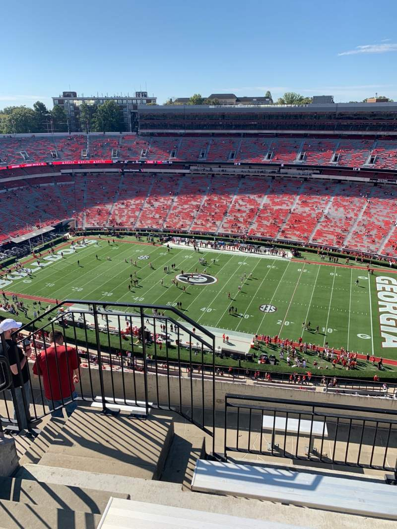 Seating view for Sanford Stadium Section 604 Row 7 Seat 20