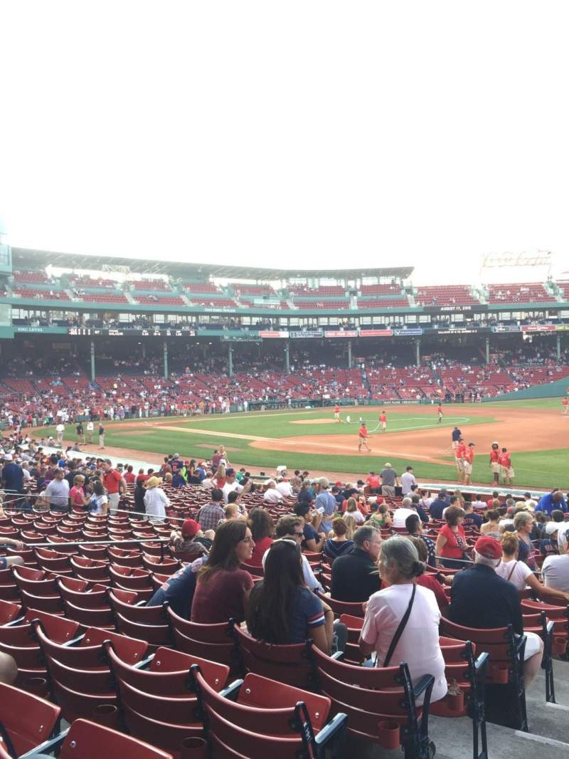 Fenway Park, section: Loge Box 100, row: LL, seat: 4