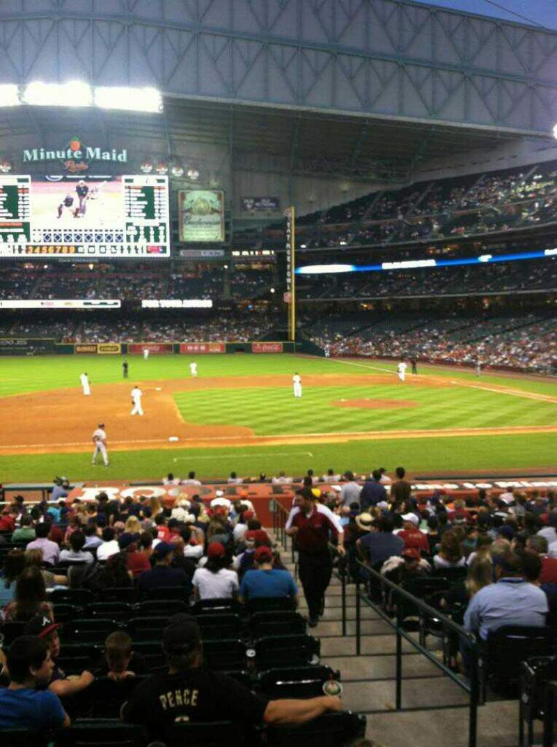 Seating view for Minute Maid Park Section 112 Row 28 Seat 15
