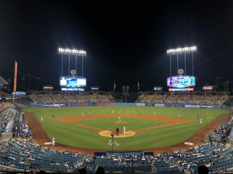 Seating view for Dodger Stadium Section 102LG Row G Seat 5