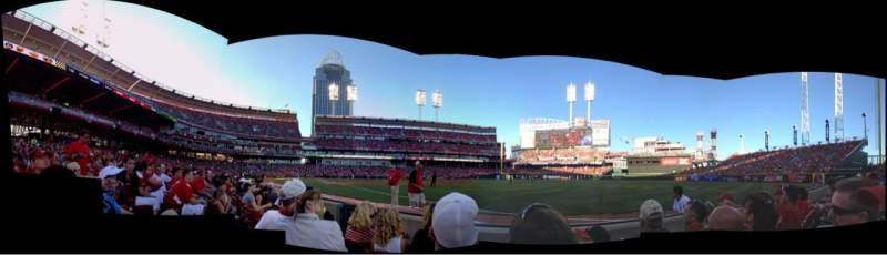 Seating view for Great American Ball Park Section 135 Row C Seat 16