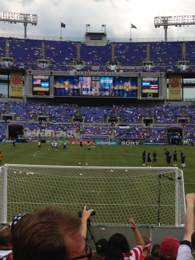 Seating view for M&t Bank Stadium Section 140 Row 9 Seat A10