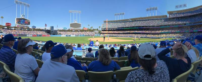 Seating view for Dodger Stadium Section 29FD Row E Seat 5