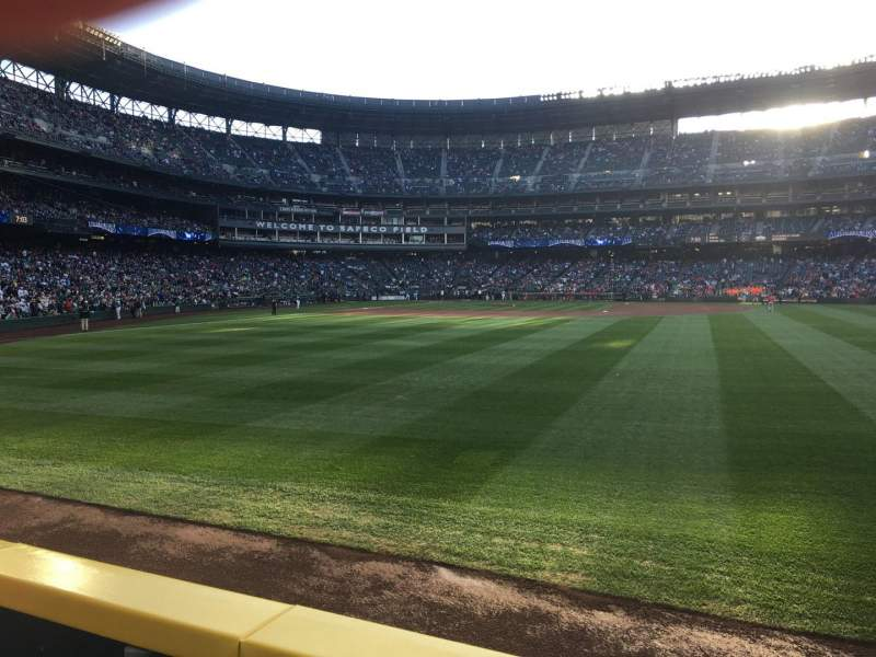 Seating view for T-Mobile Park Section 107 Row 23 Seat 3