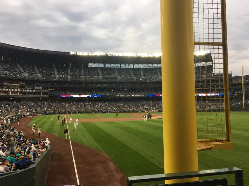 Seating view for T-Mobile Park Section 110 Row 24 Seat 1