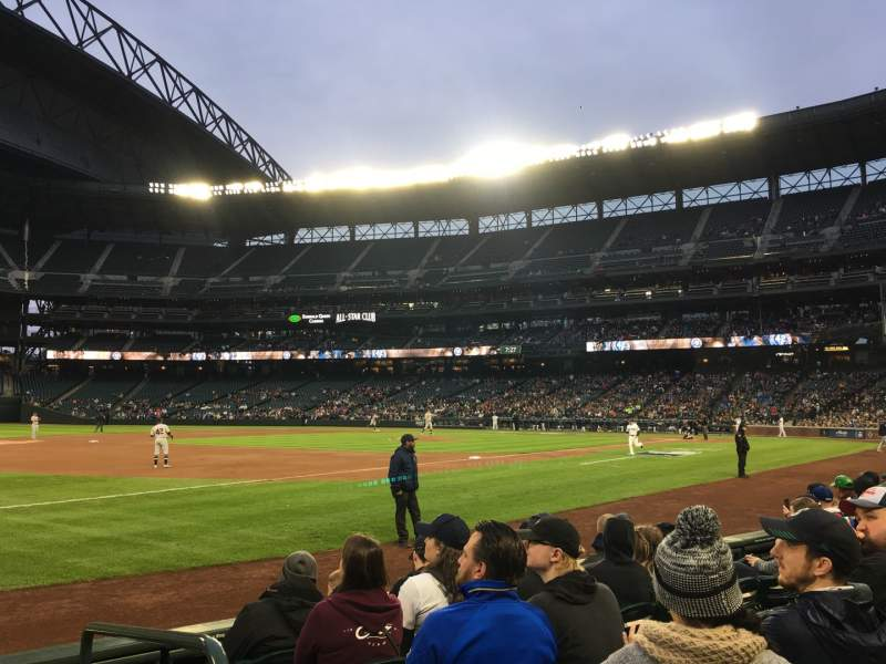 Seating view for T-Mobile Park Section 143 Row 6 Seat 1