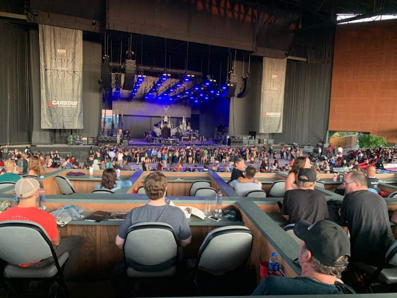 Seating view for White River Amphitheatre Section BOXC Row 15A Seat 1