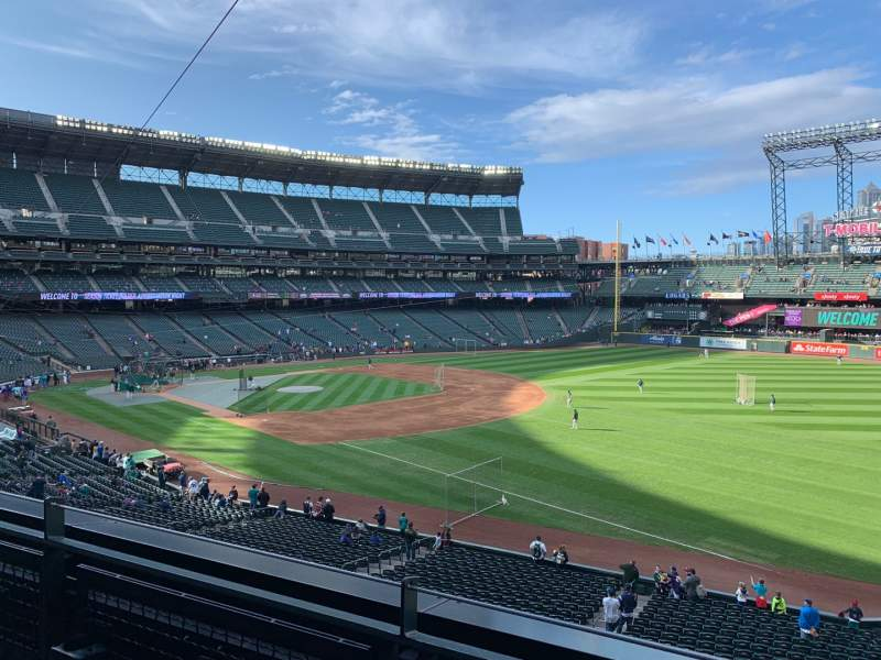Seating view for T-Mobile Park Section 215 Row 2 Seat 1