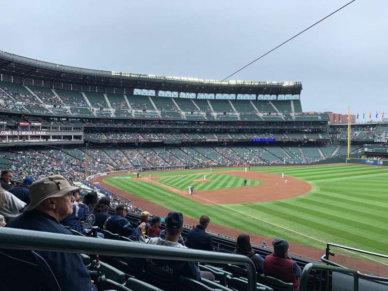 Seating view for T-Mobile Park Section 214 Row 6 Seat 1