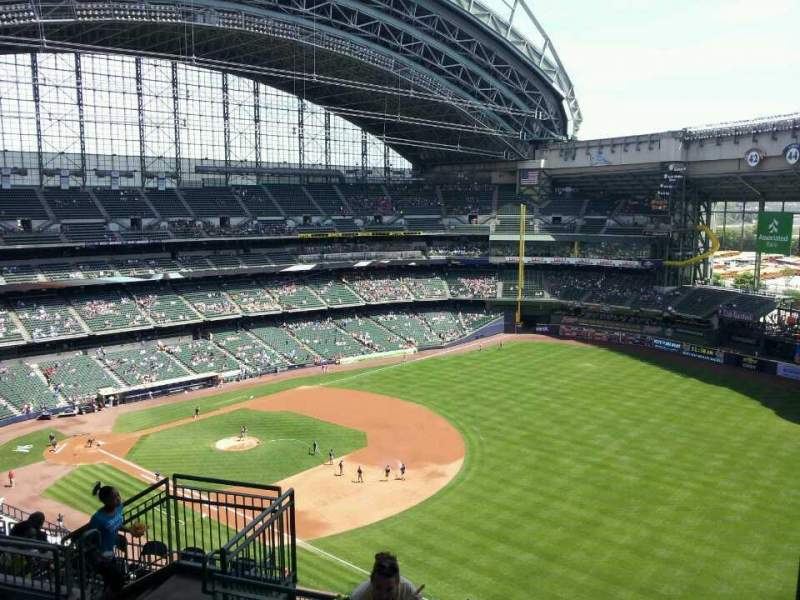 Seating view for Miller Park Section 409 Row 13 Seat 7