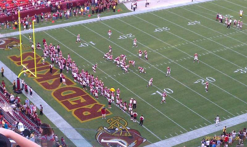 Seating view for FedEx Field Section 407 Row 14 Seat 15