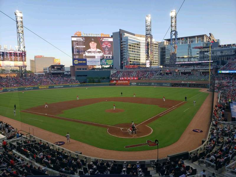 Seating view for SunTrust Park Section 227 Row 1 Seat 6