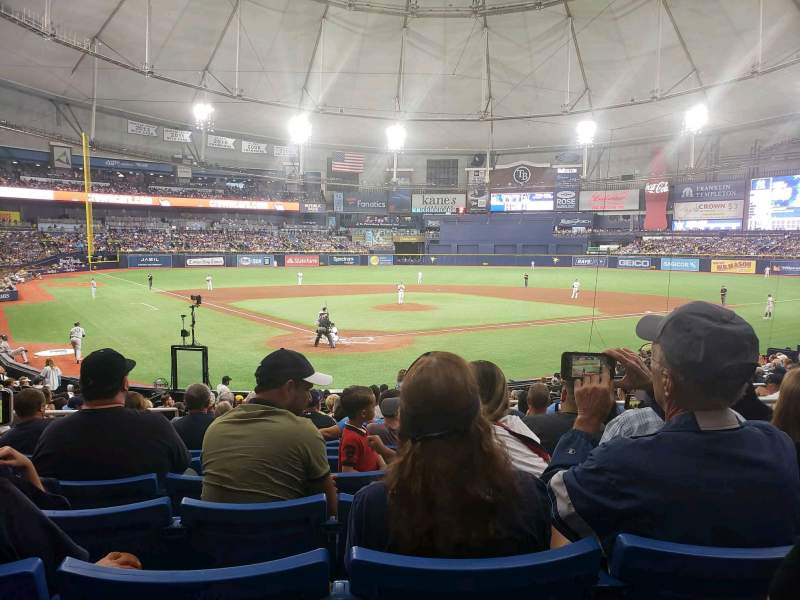 Seating view for Tropicana Field Section 104 Row AA Seat 6
