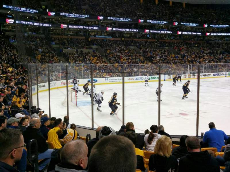 Seating view for TD Garden Section Loge 4 Row 9 Seat 14