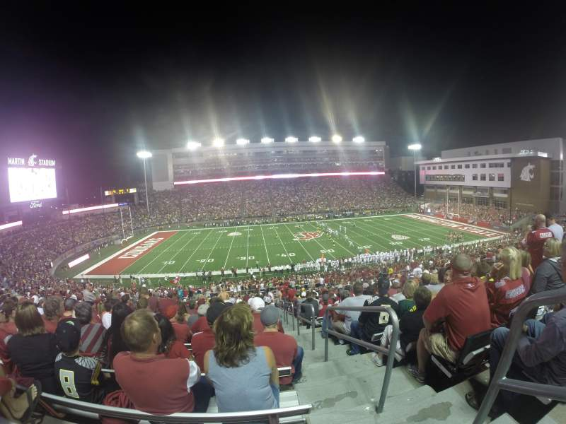 Seating view for Martin Stadium Section 25 Row 28