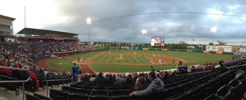 Seating view for Hammons Field Section E Row 22 Seat 21