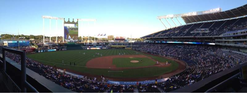 Seating view for Kauffman Stadium Section 307 Row A Seat 1