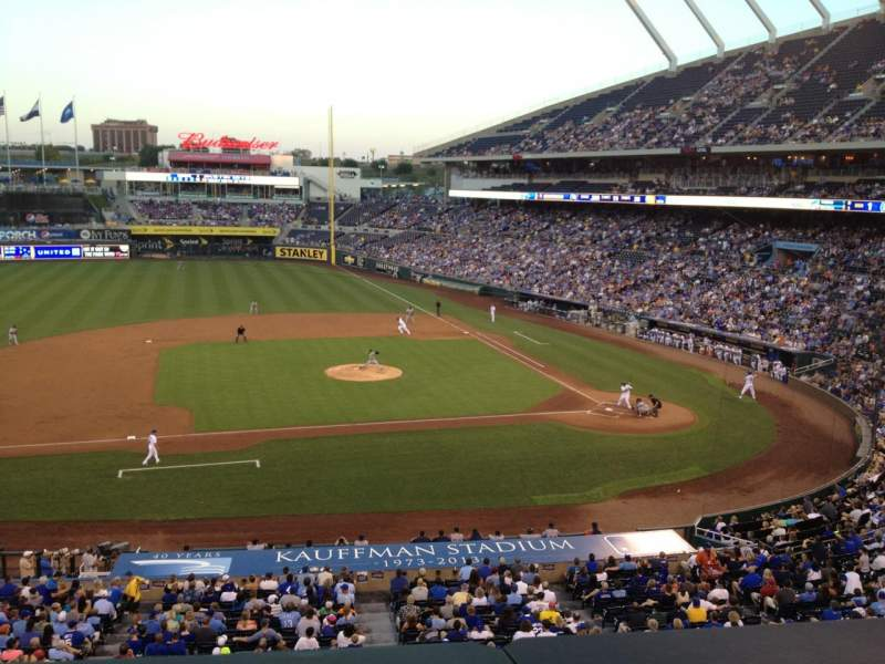 Seating view for Kauffman Stadium Section 307 Row A Seat 2