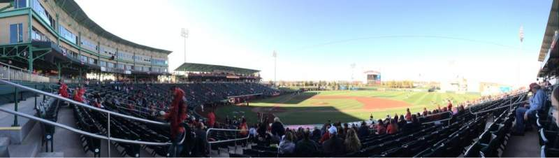 Seating view for Hammons Field Section E Row 22 Seat 23