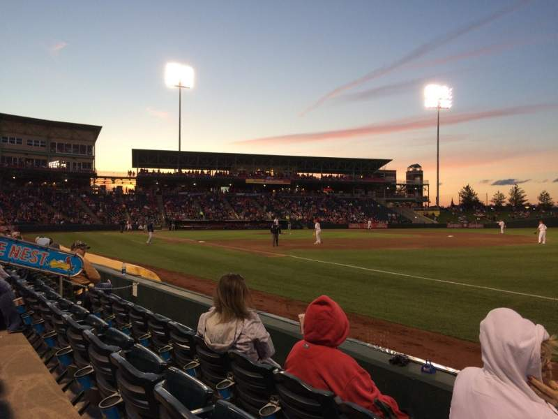 Seating view for Hammons Field Section A Row 3 Seat 1