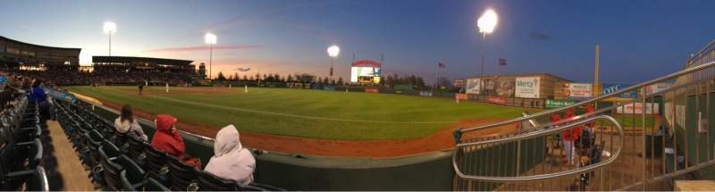 Seating view for Hammons Field Section A Row 3 Seat 2
