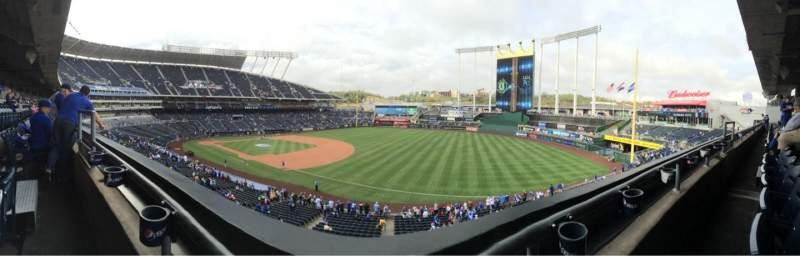 Seating view for Kauffman Stadium Section 322 Row A Seat 4