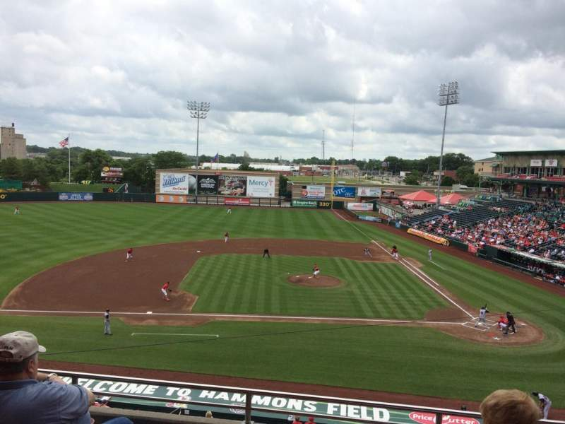 Seating view for Hammons Field Section BB Row 4 Seat 5