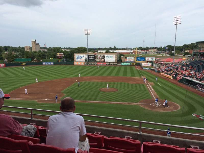 Seating view for Hammons Field Section AA Row 4 Seat 2