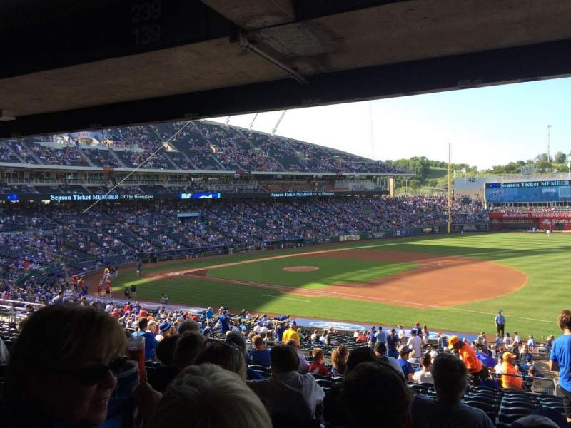 Seating view for Kauffman Stadium Section 239 Row PP Seat 11