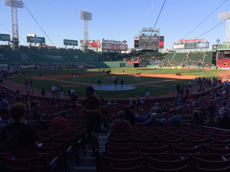 Seating view for Fenway Park Section Loge Box 130 Row LL Seat 6