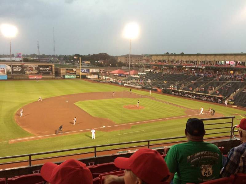Hammons Field, section: EE, row: 5, seat: 3