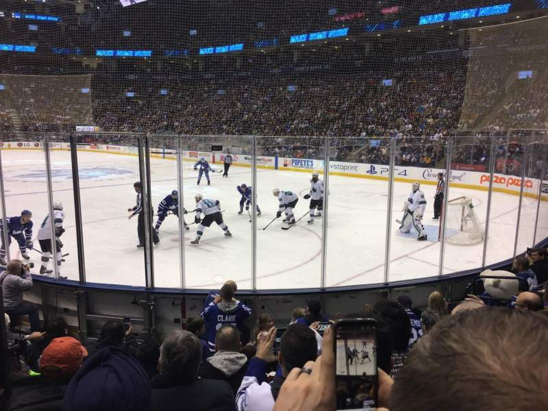 Seating view for Scotiabank Arena Section 115 Row 11 Seat 9