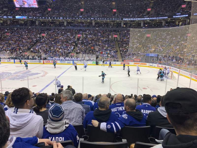 Seating view for Scotiabank Arena Section 107 Row 16 Seat 10