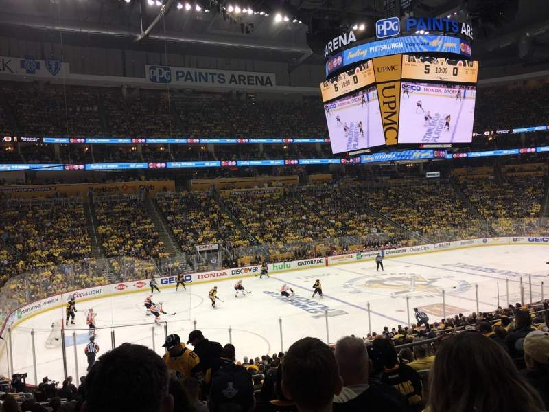 PPG Paints Arena, section: 115, row: Y